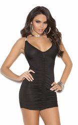 8213 Black Lycra Mini Dress with Front and Back Elegant Moments