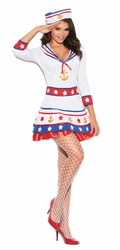 "99002 2pc Womens Sexy Sailor ""Harbor Hottie"" Costume"