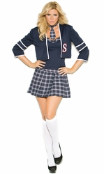 99004x 4pc Plus Size Sexy School Girl Class Distraction Costume
