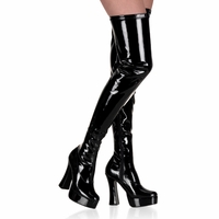 "Black 5"" Thigh Hi  Platform Boot  Electra-3000z"