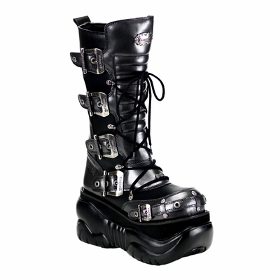 "Boxer-205 4"" Platform Calf Boot by Demonia"