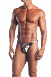 EE20 Mens Camo Thong W/ Mesh by Fantasy Lingerie