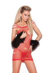 Cupless net mini dress #8719