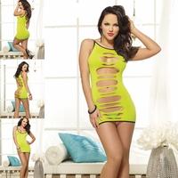 Dreamgirl DG8085 Lime Slashed Dress