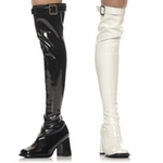 "Ellie 300-BOOGIE 3"" Heel Thigh High Boots.  <br>Size 6-12"