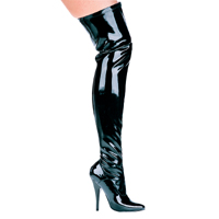"Ellie 511-ALLY 5"" Heel Thigh High Stretch Boot.  <br>Size 5-14"
