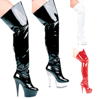 "Ellie 609-CASINO 6"" Heel Pointed Stilletto Thigh High Boots.  Size 5-12"