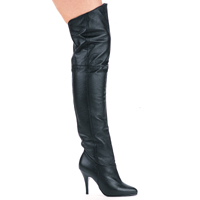 "Ellie 8868 4"" Heel Pig Leather Thigh High Boots.  <br>Size 6-14"