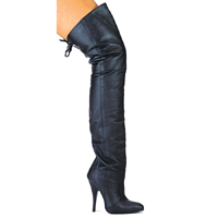 "Ellie 8899H5 5"" Heel Pig Leather Thigh High Boots.  <br>Size 5-14"