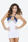 Halter style mini dress #8267