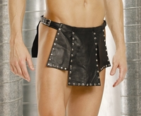 L9869 Mens Leather Kilt W/ Nailheads