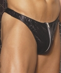 Mens Leather Zip Up Thong  #9138 One Size or XLarge