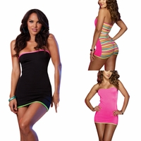 7399 Microfiber Dress With Strappy Back OS