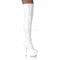 "Pleaser ADORE-3000 Platform Thigh Boot with 6 1/2"" Heel  <br>Size: 6-12"