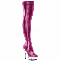 "Delight-3005 6"" Heel Shiny Lycra Thigh Platform Boot"