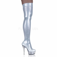 "Pleaser DELIGHT-3005 Platform Thigh Boot with 5 3/4"" Heel  <br>Size: 6-14"