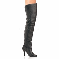 "Legend-8868 Leather Thigh Boot with 4"" Heel  Size: 6-16"