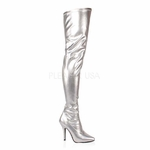 "Pleaser SEDUCE-3000 Single Sole Thigh High Boot with 5"" Heel  Size: 6-16"
