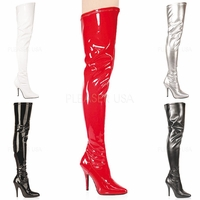 "Seduce-3000 Single Sole Thigh High Boot with 5"" Heel  Size: 6-16"