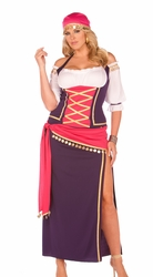 9225x Plus Size 5pc Gypsy Maiden Adult Costume  by Elegant Moments
