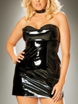 Plus Size Patent Vinyl Dresses and Babydolls