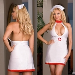 Plus Size Sexy  Nurse's Sleepwear Halter Dress Costume # 3776X