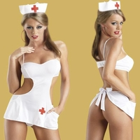 Plus Size Sexy Nurse w/ Hat Costume 21661X