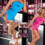 93000  Nylon and Spandex Tube Dress O/S