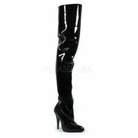 """Seduce-3010 5"""" Classic Plain Patent Thigh Boot by Pleaser"""