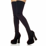 Thigh High Stretch Platform Boot with 5 inch Heel Electra-3000