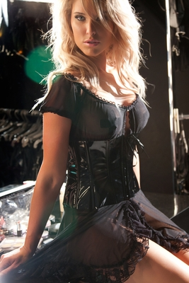 Vinyl & Mesh Barmaid Dress 17-3067