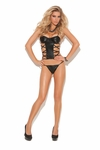 """Wet Look"" Corset top with underwire #4262"
