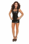 """Wet Look"" Mini dress #8131"