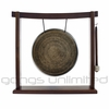 "9"" to 10.5"" Engraved Nepalese Gong on the Woodsonic Gong Stand - FREE SHIPPING"