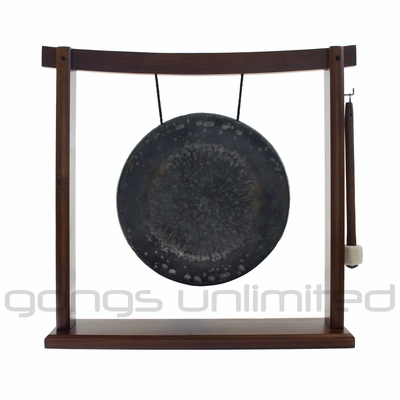 """SOLD OUT 10"""" Mother Tesla Gong on the Woodsonic Gong Stand - FREE SHIPPING"""