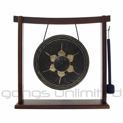 "SOLD OUT 10"" Thai Gong on the Woodsonic Gong Stand - FREE SHIPPING"