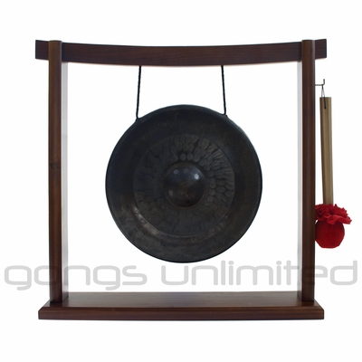 "SOLD OUT 10"" Pham Tuan Gong on the Woodsonic Gong Stand - FREE SHIPPING"
