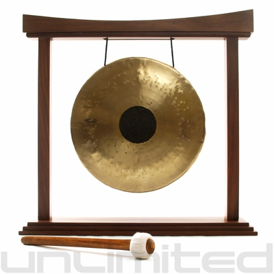 """12"""" Chocolate Drop Gong on The Small Eternal Present Gong Stand - FREE SHIPPING - SOLD OUT"""