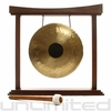 "12"" Chocolate Drop Gong on The Small Eternal Present Gong Stand"