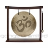 """12"""" Om Engraved Wind Gong on the Woodsonic Gong Stand - FREE SHIPPING"""
