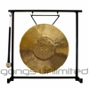 "12"" Tiger Gong on the Zildjian Table-Top Gong Stand (P0561) - FREE SHIPPING"
