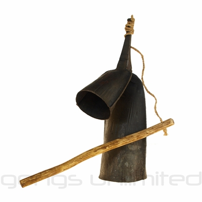 "12"" Traditional Gankogui Bell from Ghana - FREE SHIPPING"