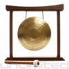 "12"" White Gong on The Small Eternal Present Gong Stand"