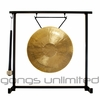 "12"" White Gong on the Zildjian Table-Top Gong Stand (P0561) - FREE SHIPPING"