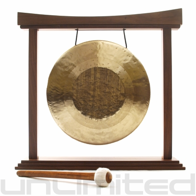 "13"" Tiger Gong (Opera Style - Pitch Bend Gong) on The Small Eternal Present Gong Stand - FREE SHIPPING - SOLD OUT"