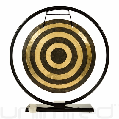 "14"" Solar Flare Gong on Au Courant Gong Stand - FREE SHIPPING"
