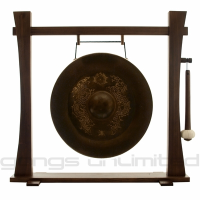 "17"" Vietnamese Dragon Gong on Spirit Guide Wood Stand - FREE SHIPPING"