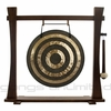 """18"""" Solar Flare Gong on Spirit Guide Gong Stand"""