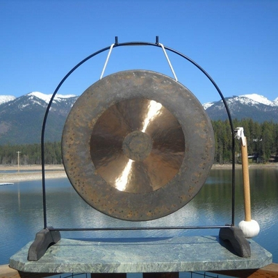 "20"" Bright Chau Gong on the Super Love Gong Stand"