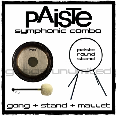 "20"" Paiste Symphonic Gong on Round Stand with M1 Mallet"